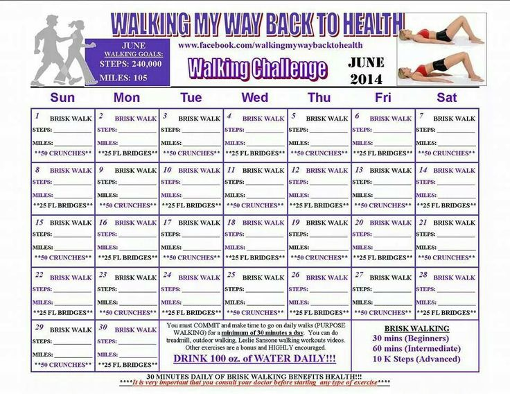 Walking challenge | Monthly Fitness Challenges | Pinterest ...