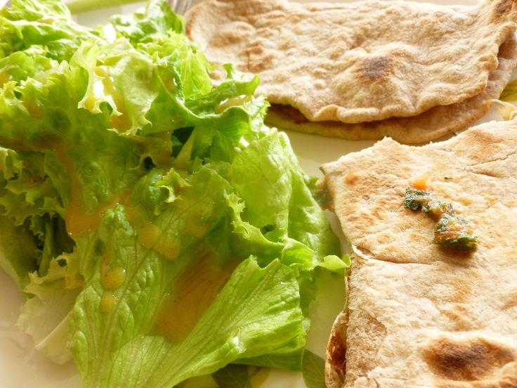 Chapati semi-integral con relleno napolitano