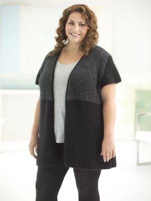 Image of Curvy Girl Urban Color Vest