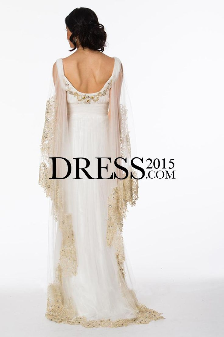 Style Beading Cape 2015 Edge Prom Dress picture 2