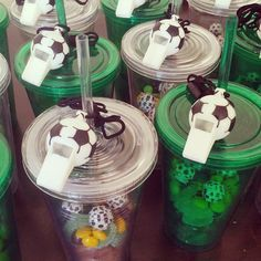 Getting ready to party  Lolly 'bags' for Aidan's soccer party tomorrow. #soccerparty #lovemykids