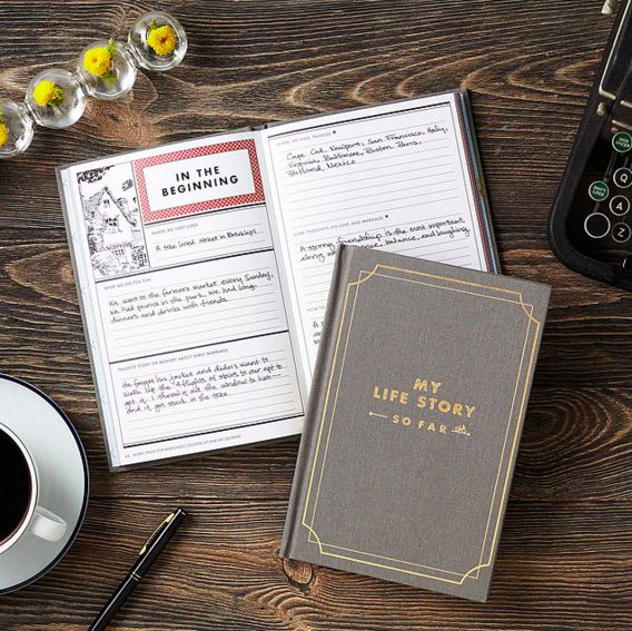 This one to write down your life story so far. | 24 Notebooks That Might Actually Inspire You To Write Something