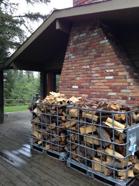 Wood from our tree lot - preparing for a long winter