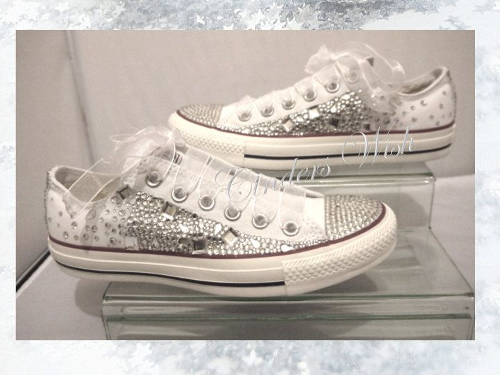 Crystal Converse Low rise / Wedding converse / by CindersWish