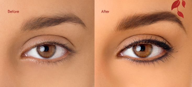 Permanent Eyeliner soft look | Example of Semi Permanent Makeup done on both the brows and Eyeliner.