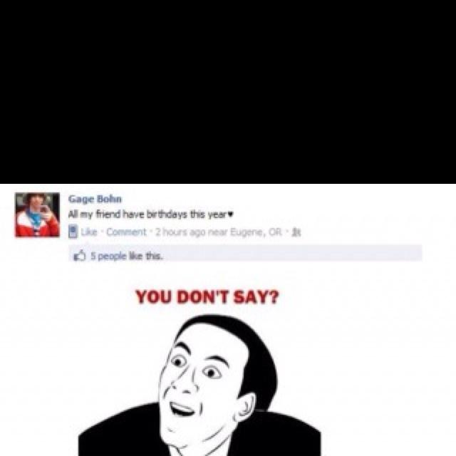 Sarcasm strikes again