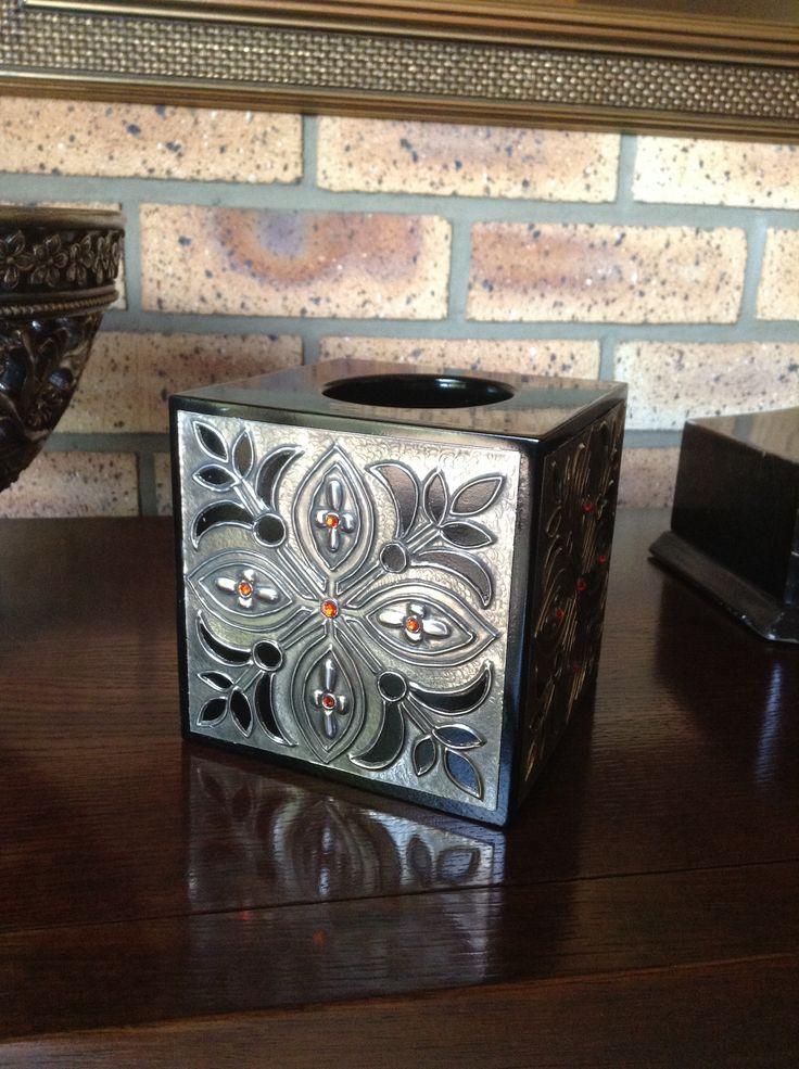 Pewter tissue box cover by Lisa B's Art Studio