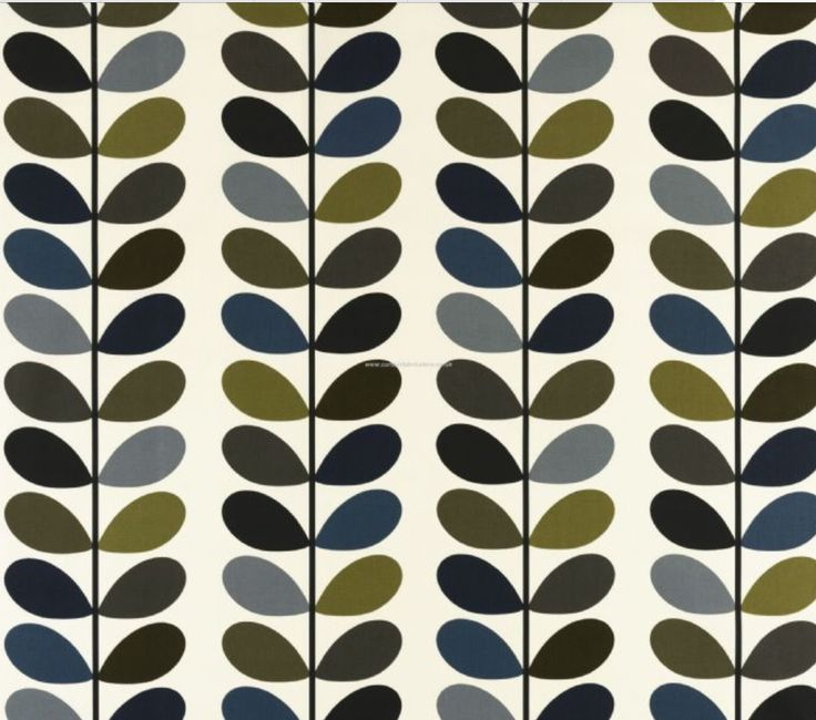 Orla Kiely Linear Stem fabric, £17.50 per metre at Home And Contract Design.