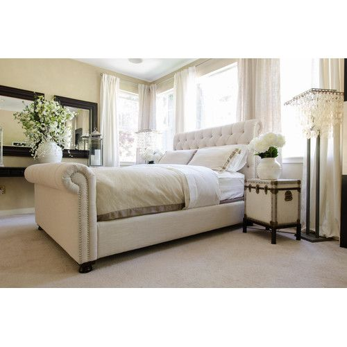 found it at wayfair upholstered sleigh bed