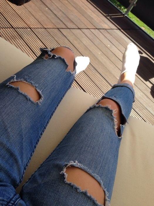 Jeans mit Löchern - kleiderkreisel.de