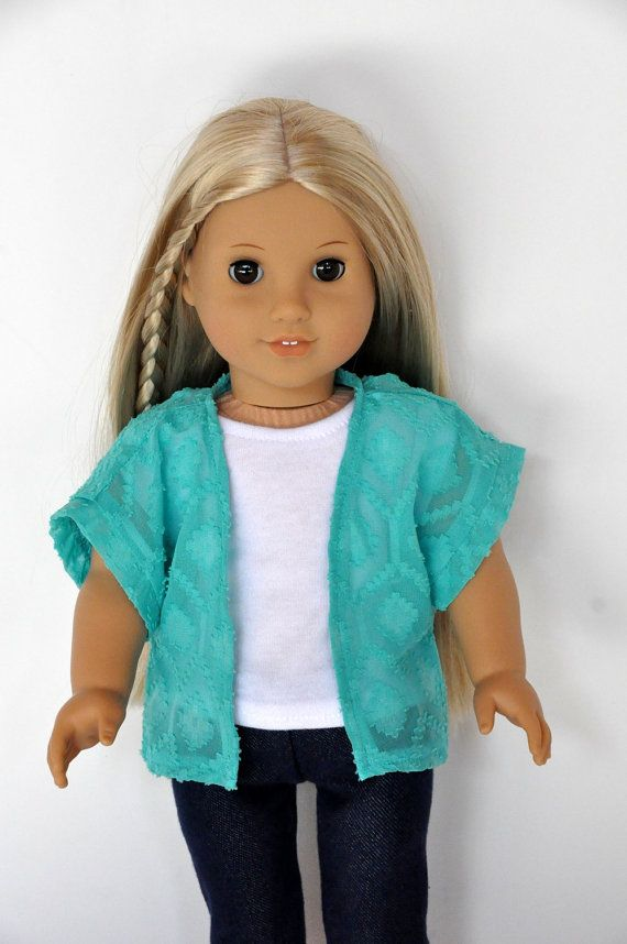 American Girl Doll Clothes Teal Kimono 18 inch
