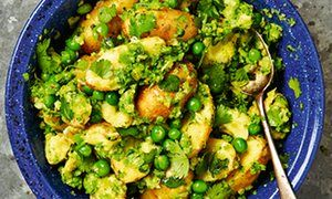 Yotam Ottolenghi's new potatoes with peas and coriander