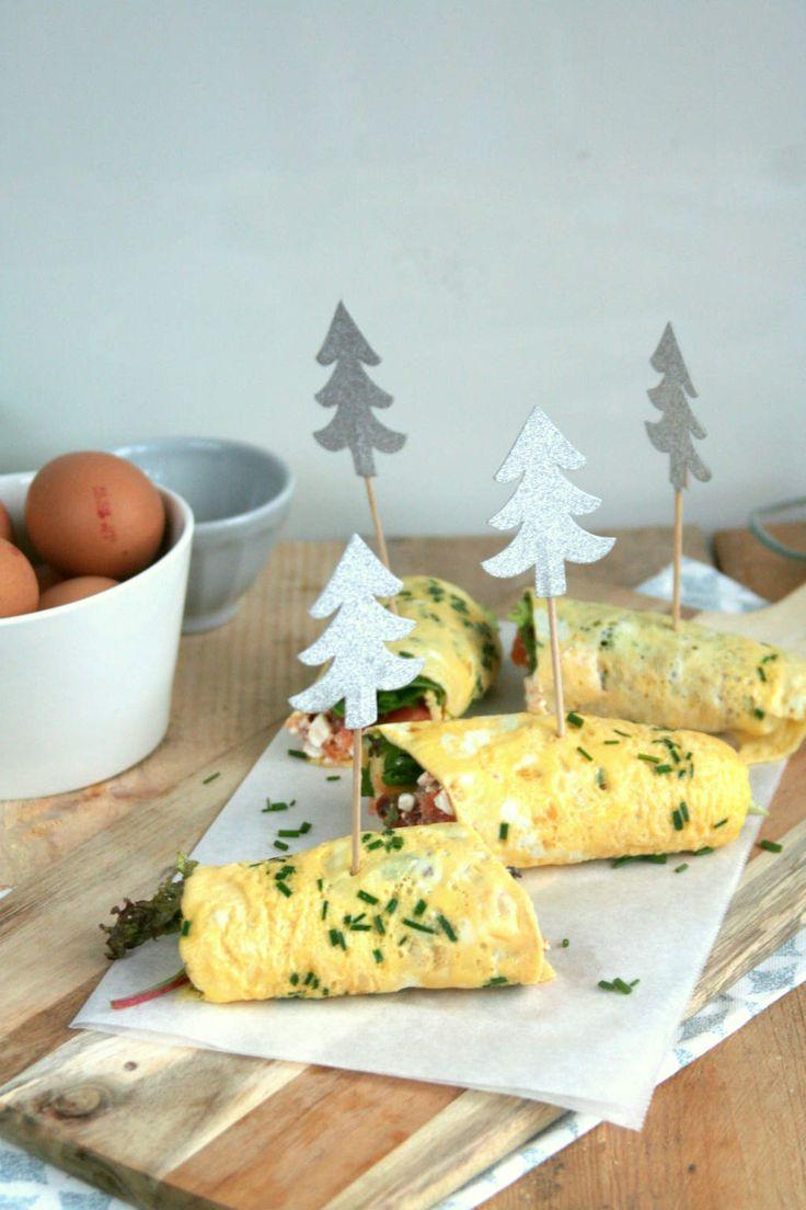 omelet wrap met zalm