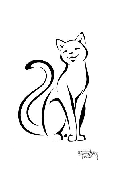 Line Drawing Cat Tattoo : Best Эскизы images on pinterest embroidery art
