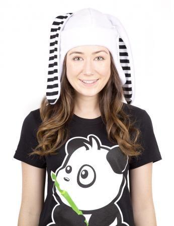 crazyheads Fleece White Bunny Aviator Hat- SALE $19.99