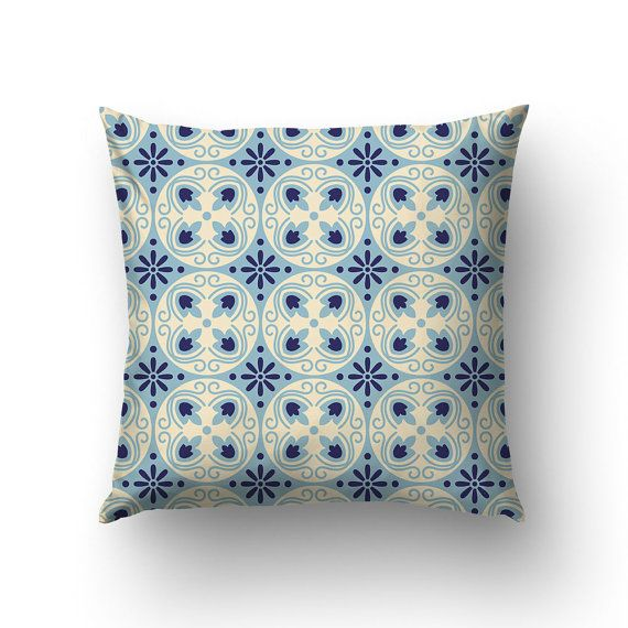 Abstract Pillow Modernist Decor Catalan Style Home by Macrografiks