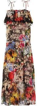 ShopStyle: Emamó Robe longue en coton imprimé Jardin