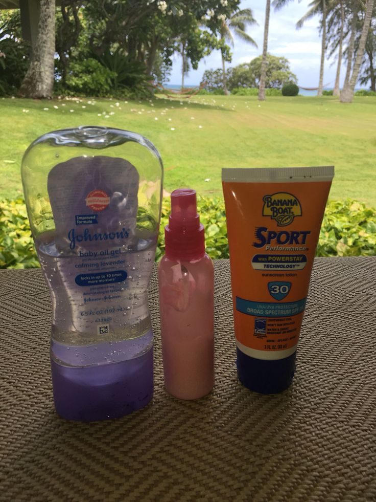 DIY Sunblock Lavender Mosquito Repellent -  Gentle for kids, smells great, keeps skin moisturized. Non-toxic (depending on the sunblock brand). Mix 3 parts sunblock lotion,2 parts baby oil gel lavender, 1 part water to help mix. Add more sunblock or baby oil gel depending on your activity. Optional: 4-6 drops of lavender pure essential oil. Leave small space at the top of bottle because you need space to shake and mix contents. Mosquitos don't like lavender. Reapply per sunblock instructions