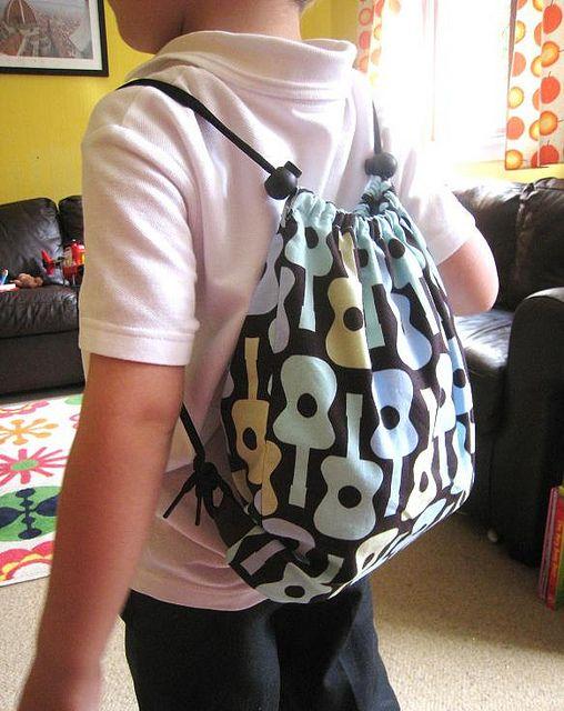 Tutorial: Drawstring Gym / PE Kit backpack