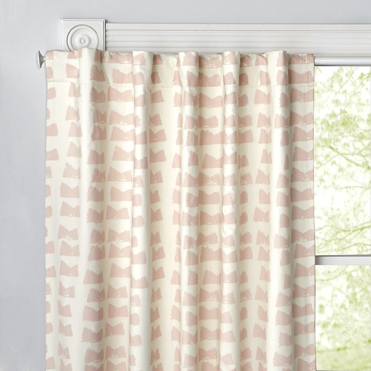 Daily Sketch Pink Blackout Curtains