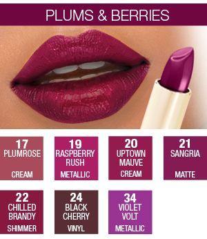 Milani Color Statement Lipsticks (Sangria is a DUPE for M.A.C's Rebel I need a plum lipstickkkkkk