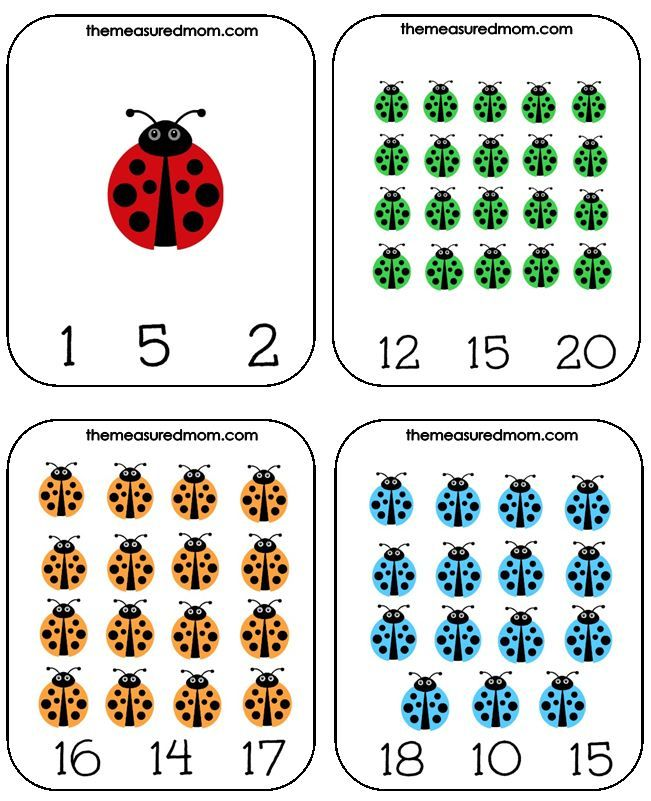 Printable Counting Activity for Preschoolers: Ladybug Count & Clip Cards