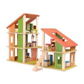 Mobilyalı Villa Bebek Evi (Chalet Dollhouse with Furniture)