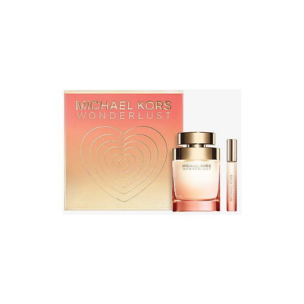MICHAEL KORS Wonderlust Gift Set ($112) ❤ liked on Polyvore featuring beauty products, gift sets & kits, no color, michael kors and eau de perfume