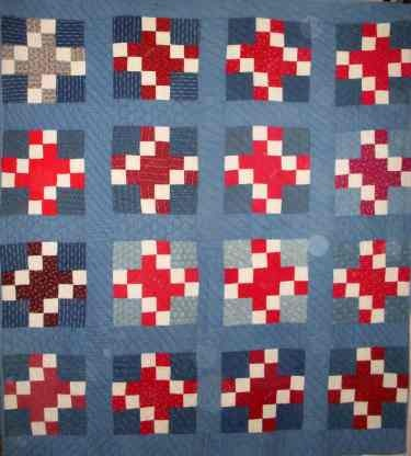 early 1900's #quilt. I really like this unusual patchwork pattern.