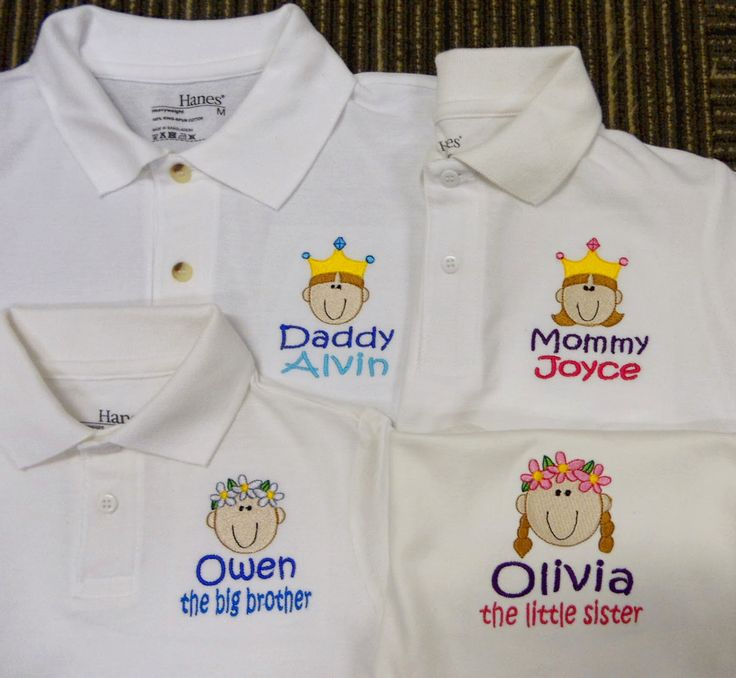What a Happy Family! Personalised Polo Shirt embroidery by ThatCornerShop. #personalisedgifts #birthdaygifts #giftsforhim #giftsforher #giftideas #embroidery
