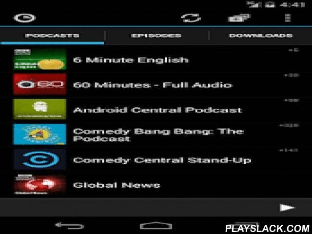 Podkicker Podcast Player  Android App - playslack.com ,  Podkicker is one of the most popular podcast managers for android. ★ Free of charge!★ Minimalistic, fast and efficient★ Audio and video support.★ Chromecast support (beta).★ Flattr integration.★ Transfer of downloads to dropbox or similar.★ Dedicated search engine containing 260.000+ podcasts.★ Automatic downloads and rich notifications.★ Podcast suggestions based on current subscriptions.★ Carmode when driving.★ Sleeptimer.★…