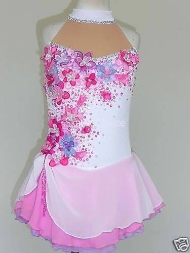 CUSTOM-MADE-TO-FIT-BEAUTIFUL-GORGEOUS-ICE-SKATING-DRESS