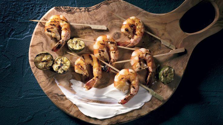Crevettes épicées et crème fraîche maison