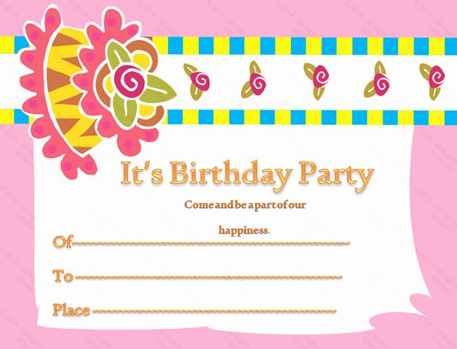 Awesome Birthday Party Invitation Card Template In 2020 Birthday Funny Birthday Cards Online Fluifree Goldxyz
