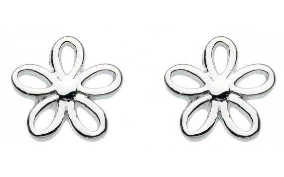 Silver Plated Studs Small Open Flower Fashion by SilverButtercups