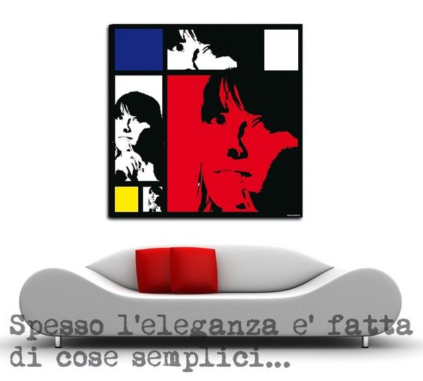 Stampa Foto Su Tela Pittorica Stile Mondrian