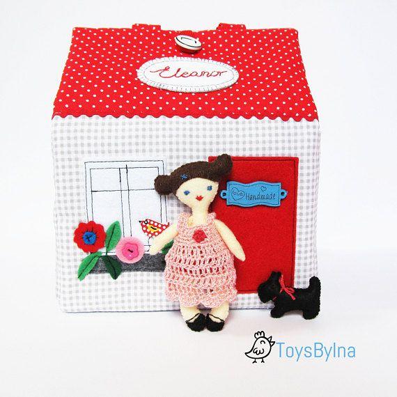 Travel dollhouse Dollhouse Fabric dollhouse Custom made #traveldollhouse #dollhouse #dressupdoll #traveltoy