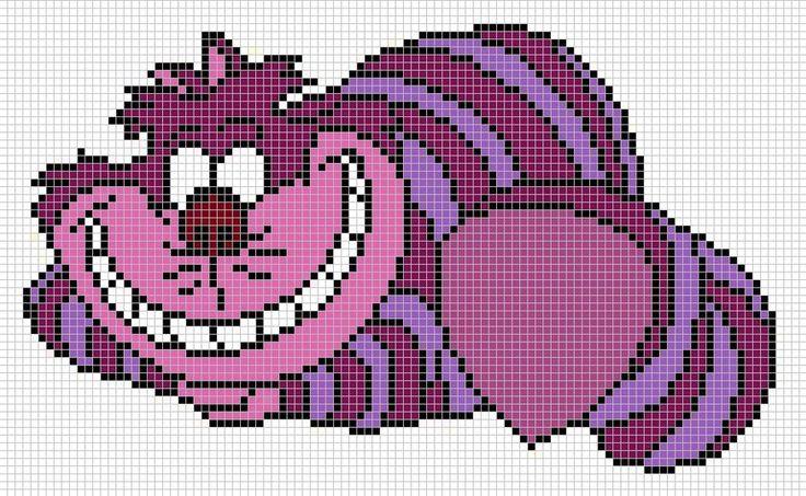 Cheshire cat pattern by ~Santian69 on deviantART