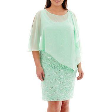 Scarlett Sleeveless Asymmetrical Cape Dress Plus Found