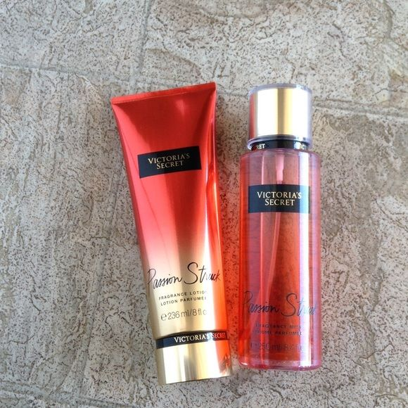 Passion struck Victoria secret passion struck fragance mist 250 ml and fragance lotion 236 ml Victoria's Secret Makeup