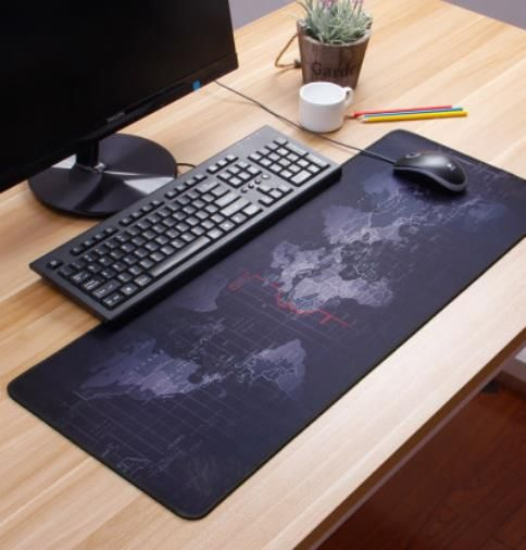 Non-slip Waterproof Extended Gaming Mouse Pad Portable Large World Map Mousepad