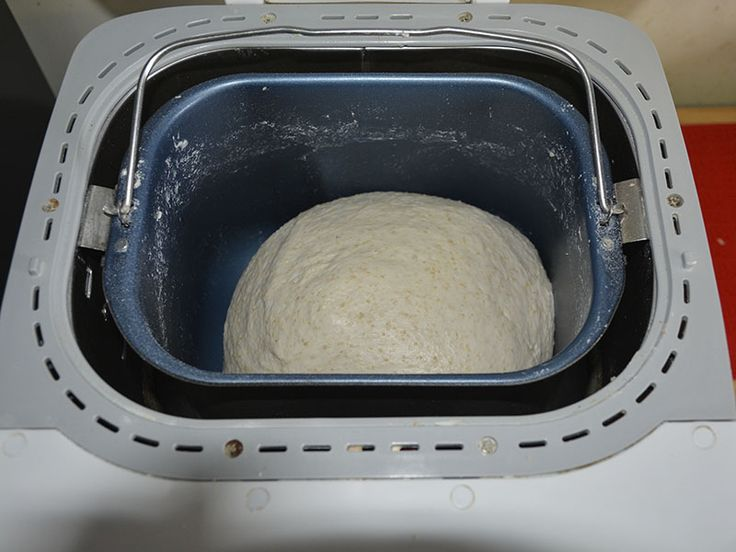 (5) When it's finished mixing, dough should be uniform, elastic and moist enough to settle a bit in the bottom of the pan. Leave the lid down and let it rise until roughly doubled in volume. Check after 20 mins to guage how quickly it is rising. (Chris S)