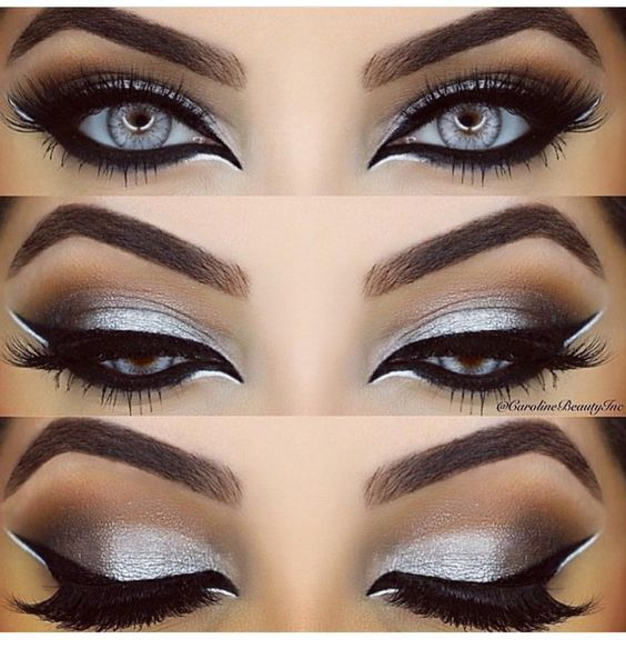 Smoky eyes suitable for a night out!: