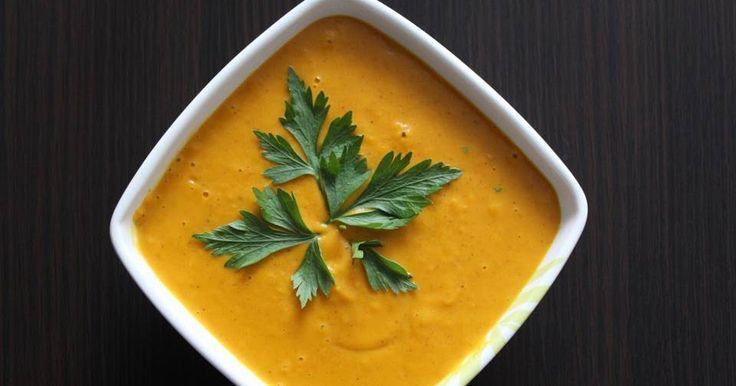 Krem z dyni z curry i imbirem oraz mleczkiem kokosowym wg. Ani Starmach