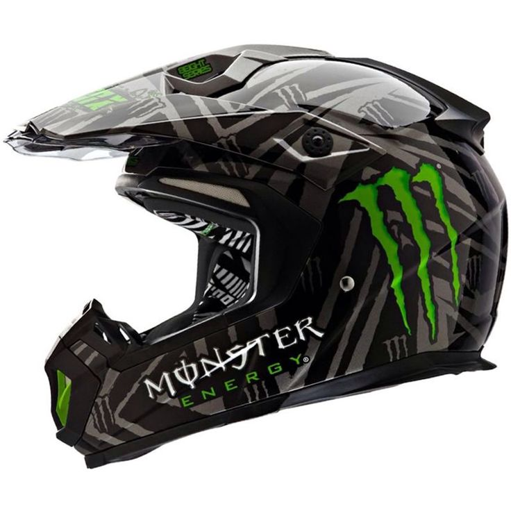 Monster Energy motocross helmet.