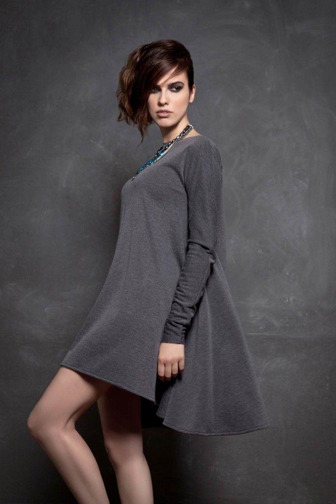 SARTORIAL | Chryssomally || Art & Fashion Designer - Asymmetrical grey mini dress