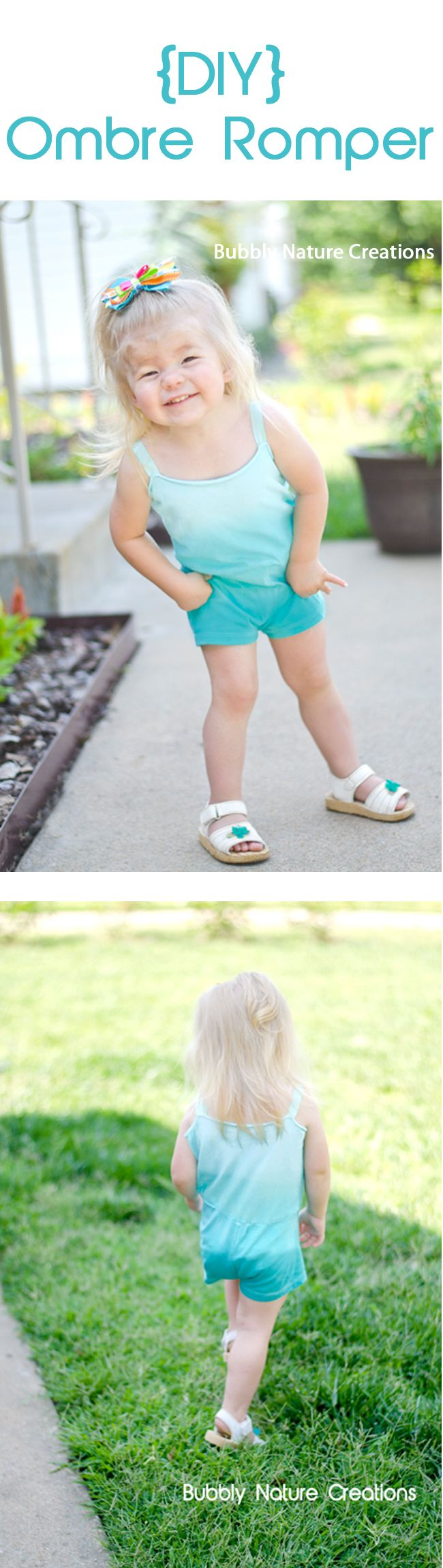 DIY Ombre Romper by @Rachel @ Bubbly Nature Creations