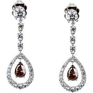 CleverEve's 18K White Gold Diamond earrings
