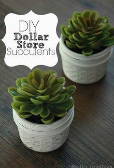 Jelly Jar Dollar Store Succulents