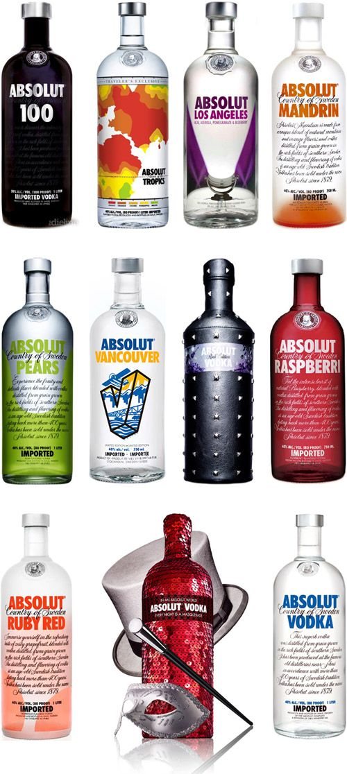 If you've ever had a drink in your life you'll no doubt recognize the iconic bottle design of Absolut Vodka. It stands to reason their are plenty of equal, if not better products when browsing the shelves of your local bottle shop, yet even without a label or packaging design, Absolut stands out from the crowd. #packagedesign #absolut